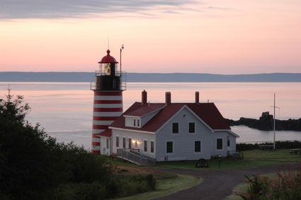 West Quoddy Lighthouse in Lubec, Maine